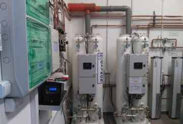 Oxygen concentrator system in Hospital