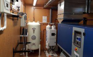 Realizacja - koncentrator tlenu w kontenerze