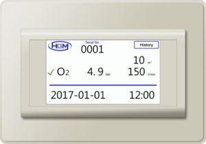 Monitor przepływu gazu i koncentracji tlenu