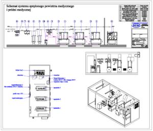 Projektowanie instalacji - sprężarkownia medyczna