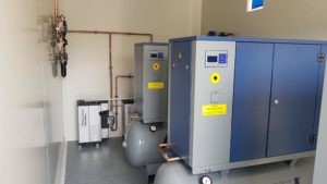 Kontener gazów medycznych - sprężarki