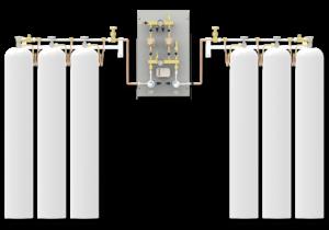 Hydro Gaz Med PNEUMAT I Rozprężalnia butlowa Zasilanie Rezerwa Panel zasilania