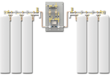 Switchover system PNEUMAT 1 - central supply panel ensures a continuous supply of medical gases
