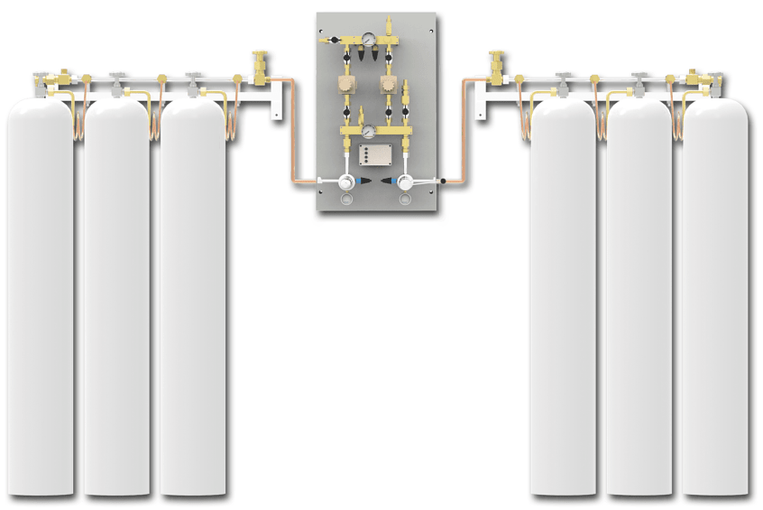 Switchover system PNEUMAT 1 – central supply panel ensures a continuous supply of medical gases