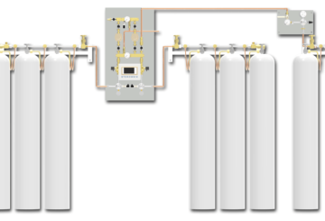 Switchover system PNEUMAT 2 - central supply panel ensures a continuous supply of medical gases