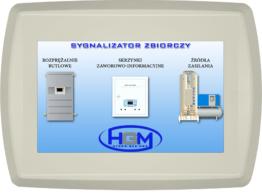 Centralny sygnalizator zbiorczy monitoring BMS