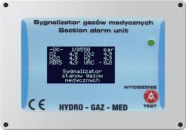 Sygnalizator zdalny gazów medycznych – Hydro Gaz Med
