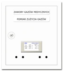Skrzynka zaworowo-informacyjna licznik przepływu pomiar gazu