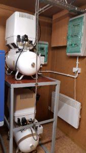 Kontener gazów medycznych - sprężarki medyczne
