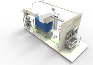 Kontener gazów medycznych - Etap projektowania