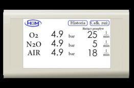 Licznik przepływu gazu skrzynka sterownik sygnalizator