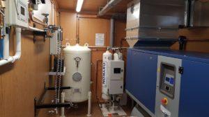 Koncentrator tlenu w kontenerze