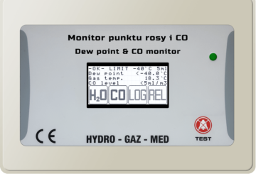 Dew point and CO monitor