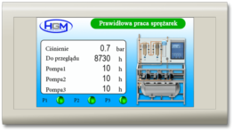 Sterownik do agregatu centralnej próżni Hydro Gaz Medmpa Sterownik